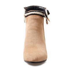 Femmes Suède Talon stiletto Escarpins Bottes Bottines avec Bowknot chaussures