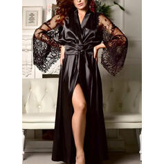 Polyester Lace Plain Robe