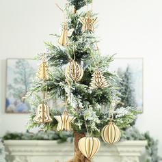 joyeux Noël Pendaison En bois Pendentif noel Ornements suspendus