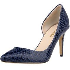 Donna Similpelle Tacco a spillo Stiletto Punta chiusa con Animale Stampa scarpe