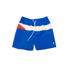 Men's Splice color Lined Swim Trunks Swimsuit