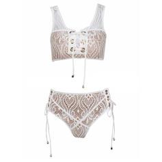 Hochtailliert Träger Sexy Bikinis Bademode