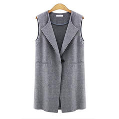 Blends Cotton Sleeveless Plain Vest