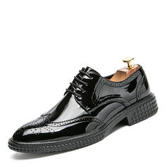 Lace-up Brogue Casual Patent Leather Men's Men's Oxfords