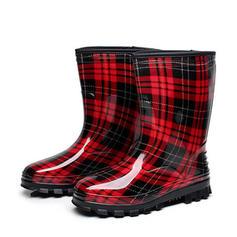 Femmes PVC Talon compensé Bout fermé Bottes Bottines Bottes de pluie avec Autres chaussures