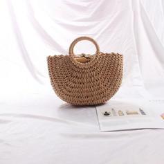 Elegant Straw Tote Bags/Beach Bags/Bucket Bags