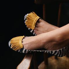 Dla kobiet PU Płaski Obcas Plaskie Z Frędzle obuwie