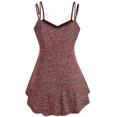 Lace Spaghetti Strap Sleeveless Casual Tank Tops