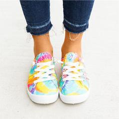 Mulheres Lona Casual Outdoor com Faixa Elástica sapatos
