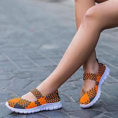 Femmes Tissu Talon plat Chaussures plates avec Lanière tressé chaussures