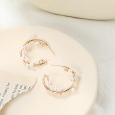 Стиль OL Сплав Імітація перлів з Імітація Перлини Сережки
