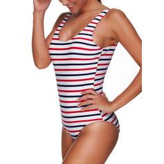 Stripe Stropp Sexy Pluss størrelse Badedrakt Badedrakter