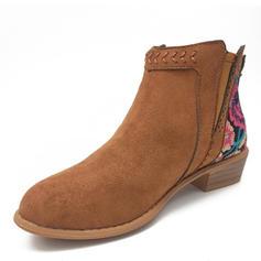 Women's PU Flat Heel Boots shoes