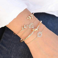 Leaves Shaped Alloy Women's Bracelets (Set of 4)