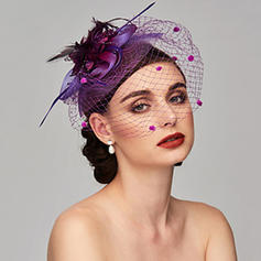Ladies' Glamourous/Simple/Handmade/Eye-catching Net Yarn/Silk Flower With Tulle Fascinators
