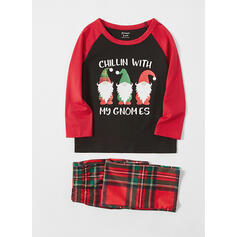 Julemanden Plaid Letter Familie Matchende Jul Pyjamas