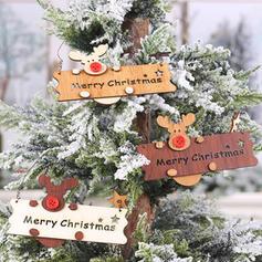 Merry Christmas Reindeer Wooden Tree Hanging Ornaments Door Hanging