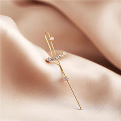 Shining Simple Cross Alloy Rhinestones Women's Earrings