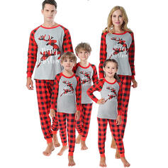 Rendier Plaid Letter Voor Gezinnen Kerst Pyjamas