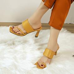 Femmes PU Talon stiletto Escarpins Bout carré avec Ouvertes chaussures