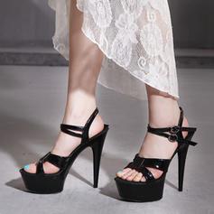 Donna PVC Tacco a spillo Sandalo Stiletto Piattaforma Punta aperta Con cinturino con Fibbia scarpe