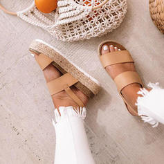 Kvinder PU Flad Hæl Platform med Andre sko