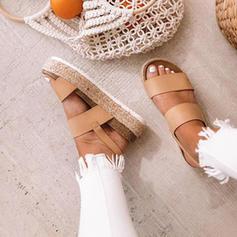 Női PU Lapos sarok Emelvény -Val Egyéb cipő