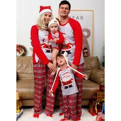 Moș Crăciun Carouri De Familie Pijamale De Crăciun