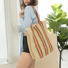 Fashionable Paper Rope Shoulder Bags/Beach Bags
