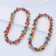 Shining Alloy Rhinestones With Rhinestone Women's Fashion Earrings (Set of 2)