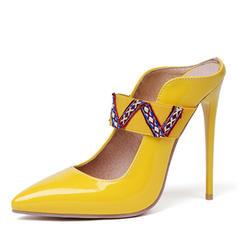 Women's Patent Leather Stiletto Heel Pumps Slingbacks shoes