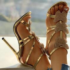 Жіночі ПУ Шпилька Сандалі Насоси взуття на короткій шпильці з Бант взуття