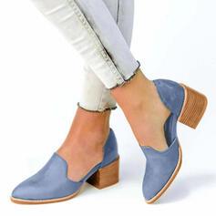 Vrouwen Kunstleer Chunky Heel Pumps schoenen