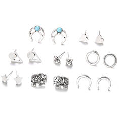 Boho Alloy Earrings (Set of 8)