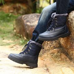 Donna PU Tacco spesso Stivali altezza media Stivali da neve Martin boots con Allacciato scarpe