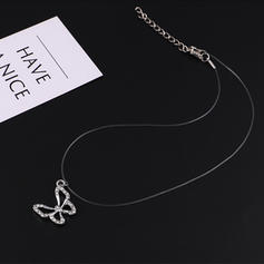 Butterfly Shaped Alloy Rhinestones With Rhinestone Women's Fashion Necklace (Sold in a single piece)