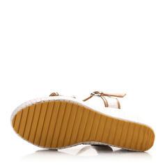 Women's PVC Wedge Heel Sandals Pumps Wedges Peep Toe Slingbacks With Buckle shoes