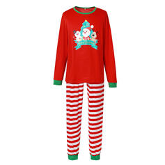 Nisse Stripe Cartoon Familie matchende Jule Pyjamas