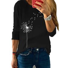 Dandelion Round Neck Long Sleeves Casual T-shirts