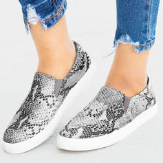 Women's PU Flat Heel Flats With Animal Print shoes