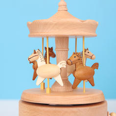 Contemporaneo Legno Cavallo Music Box