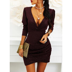 Print 3/4 Sleeves/Puff Sleeves Bodycon Above Knee Little Black/Party/Elegant Dresses
