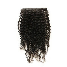 5A Virgin/remy Kinky Curly Human Hair Clip in Hair Extensions 7pcs 100g