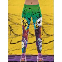 Print Halloween Long Sexy Sporty Yoga Leggings