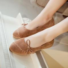 Femmes Suède Talon plat Chaussures plates Plateforme avec Bowknot chaussures