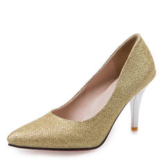 Women's Leatherette Stiletto Heel Pumps Closed Toe With Sequin Others shoes