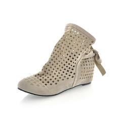 Femmes Suède Talon bas Plateforme Bout fermé chaussures