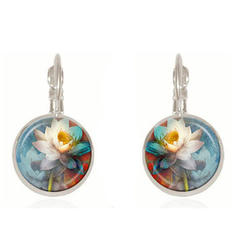 Beautiful Fashionable Paper Alloy Glass Earrings