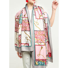 Geometric Print Oversized/attractive/fashion Scarf