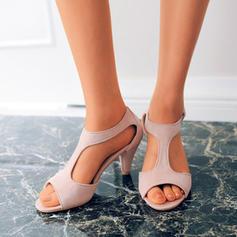 Women's PU Low Heel Pumps Peep Toe shoes